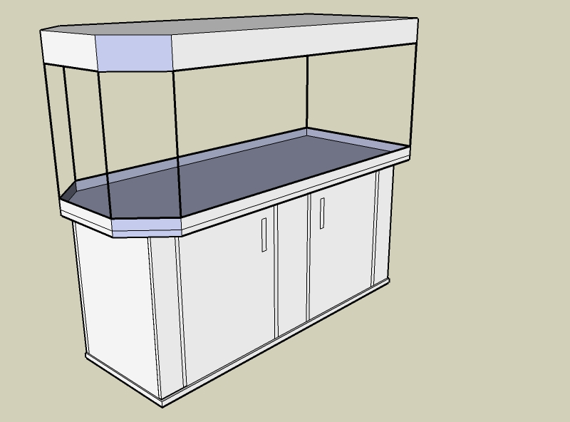 Aquarium ProfiLine Panorama Raumteiler 2 Türen Mit Brett In Der Mitte